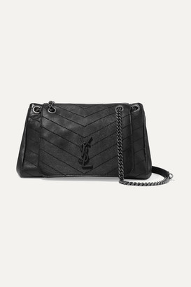 Saint Laurent Nolita Medium Quilted Leather Shoulder Bag - Black