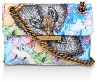 Kurt Geiger Womens London Blue Mini Kensington Fabric Bag - Blue
