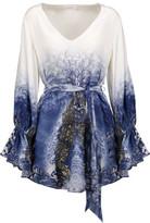 Camilla Belted Printed Silk Mini Dress