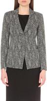 Armani Collezioni Herringbone-print jersey jacket