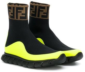 Fendi Slip-On Sock-Style Sneakers