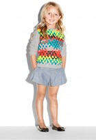 Milly Minis Neon Jaquard Combo Sweatshirt