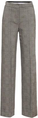 Max Mara Nolana check wool-blend pants