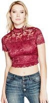 GUESS Shannon Lace Crop Top