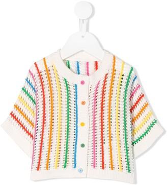 Stella Mccartney Kids Rainbow Striped Knitted Cardigan