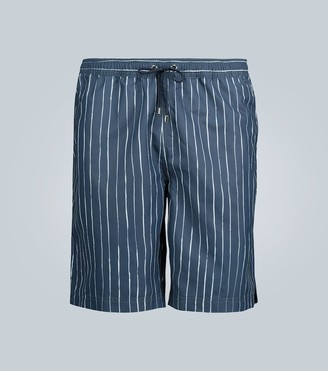 Sunspel Ink striped upcycled swim shorts
