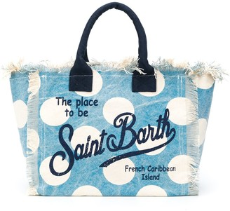 MC2 Saint Barth Polka-Dot Print Tote