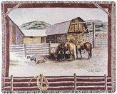"Simply Ranch Life by Pat Lehmkuhl 50"" x 60"" Tapestry Throw Blanket From Home"