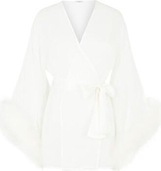 Gilda and Pearl Marabou Trim Robe
