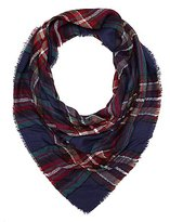 Charlotte Russe Fringed Plaid Scarf