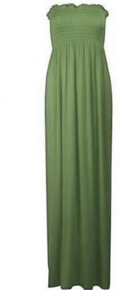 LVL Online Store Womens Sheering Bandeau Ladies Boobtube Gather Strapless Summer Maxi Dress 8-22 Blue 12-14