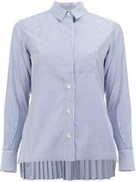 Sacai pinstriped pleated shirt - women - Cotton - 1
