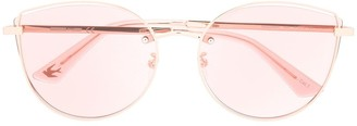 McQ Swallow Pink Tinted Sunglasses