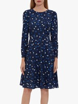 Thumbnail for your product : Gina Bacconi Arisia Floral Crepe Mini Dress, Navy