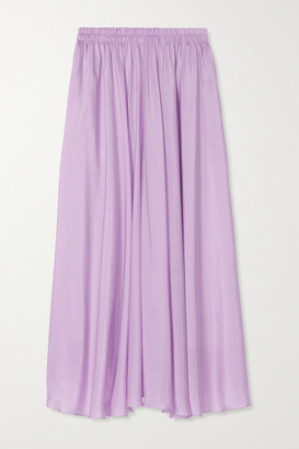 Vince Silk-habotai Midi Skirt - Lilac