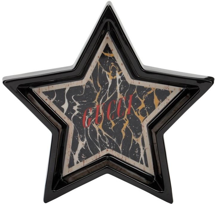 Gucci Hand Painted Marble Effect Star Tray