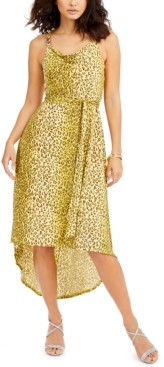 Thalia Sodi High-Low Belted Dress, Created for Macy's