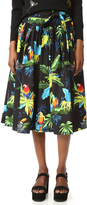 Marc Jacobs Parrot Belted Full Skirt
