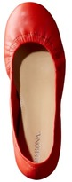 Merona Women's Emma Genuine Leather Scrunch Flat - Orange
