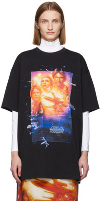 Vetements Black STAR WARS Edition Movie Poster T-Shirt