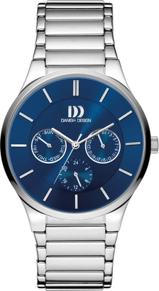 Danish Designs Danish Design Men's Quartz Watch with Blue Dial Analogue Display and Silver Stainless Steel Bracelet DZ120451