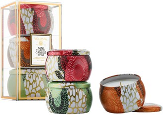 Voluspa Mini Tin Candle Set
