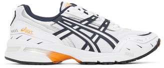 Asics Navy and White GEL-1090 Sneakers