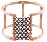 Yannis Sergakis Adornments Bezel Set Diamond Bar Charnières Ring - Rose Gold