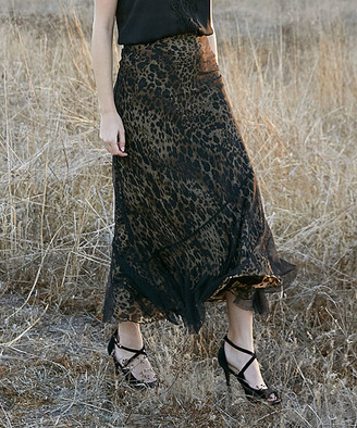 Scully Trish Child Women's Casual Skirts - Brown Leopard-Print Maxi Skirt - Women