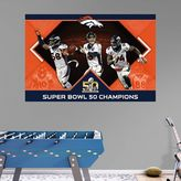 Fathead Denver Broncos Super Bowl 50 Champions Mural Wall Decal by