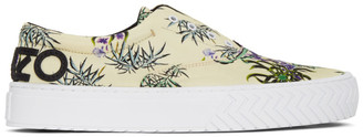 Kenzo Off-White Printed Sea Lily K-Skate Sneakers