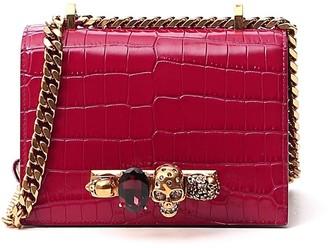 Alexander McQueen Four-Ring Embellished Crossbody Bag