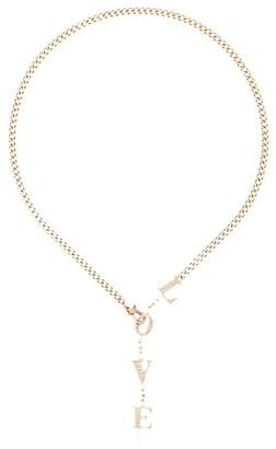Shay LOVE drop diamond necklace