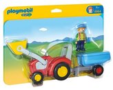 Playmobil 6964 123 Tractor with Trailer
