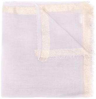 Faliero Sarti Aura lurex fringed scarf