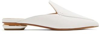 Nicholas Kirkwood Beya Grained-leather Backless Loafers - Womens - White