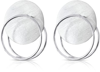 J.Y. Gao Eclipse Double Hoop Sterling Silver Statement Earrings