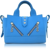 Kenzo Sky Blue Soft Rubberized Gommato Leather Mini Kalifornia Satchel