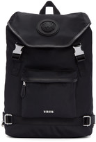 Versus Black Nylon Buckled Backpack