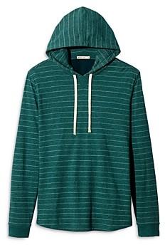 Marine Layer Cotton-Blend Stripe Double-Knit Hoodie
