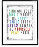 Bed Bath & Beyond Colorful Quote A Wall Decor