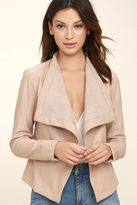 BB Dakota Peppin Blush Vegan Leather Jacket