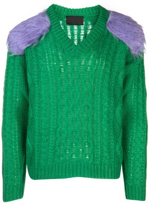 Prada Knitted Feather Detail Jumper