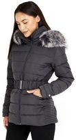 Wallis Grey Padded Short Coat, Women's