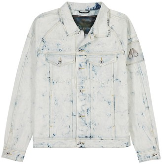 Moose Knuckles Scarboro Bleached Denim Jacket