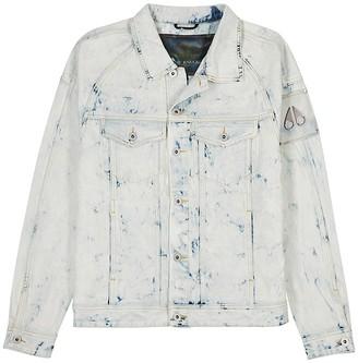 Moose Knuckles Scarboro bleached denim jacket