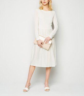New Look NA-KD Long Sleeve Pleated Midi Dress