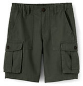 Lands' End Boys Cargo Shorts-Black Squares
