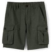 Lands' End Boys Husky Cargo Shorts-Light Beige