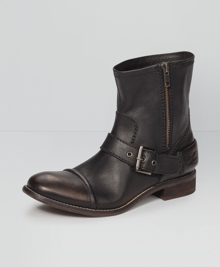 Levi's Leather Moto Boots